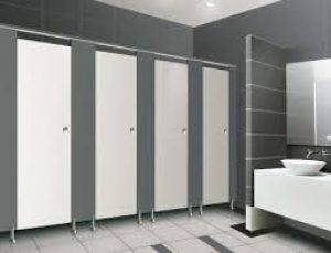 Sản phẩm vách vệ sinh compact HPL Trung Hưng lắp đặt
