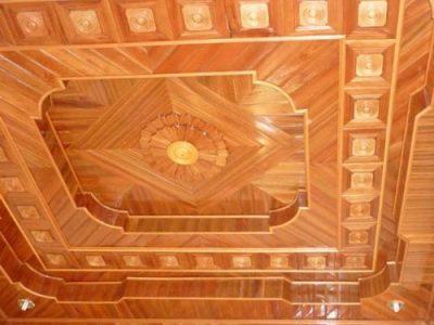 Trần gỗ tự nhiên đẹp