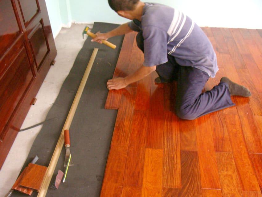 Quy trình lắp đặt sàn gỗ