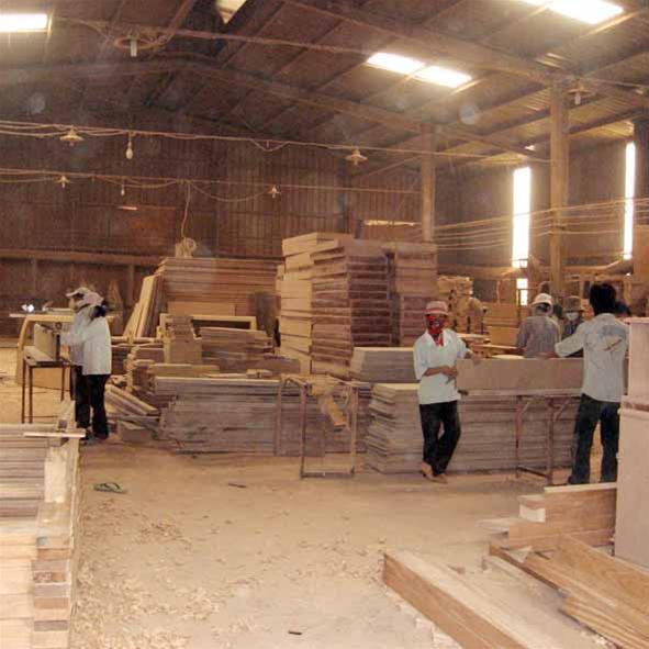Quy trình sản xuất gỗ căm xe