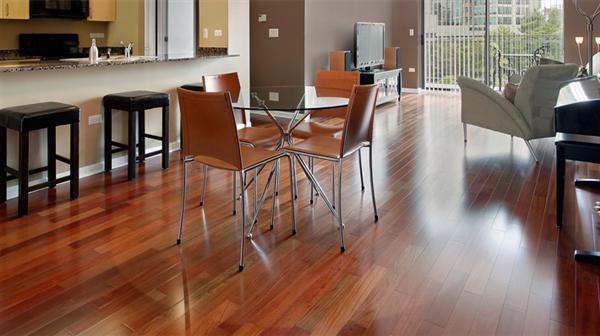 Sàn gỗ hương cao cấp cho gia đình