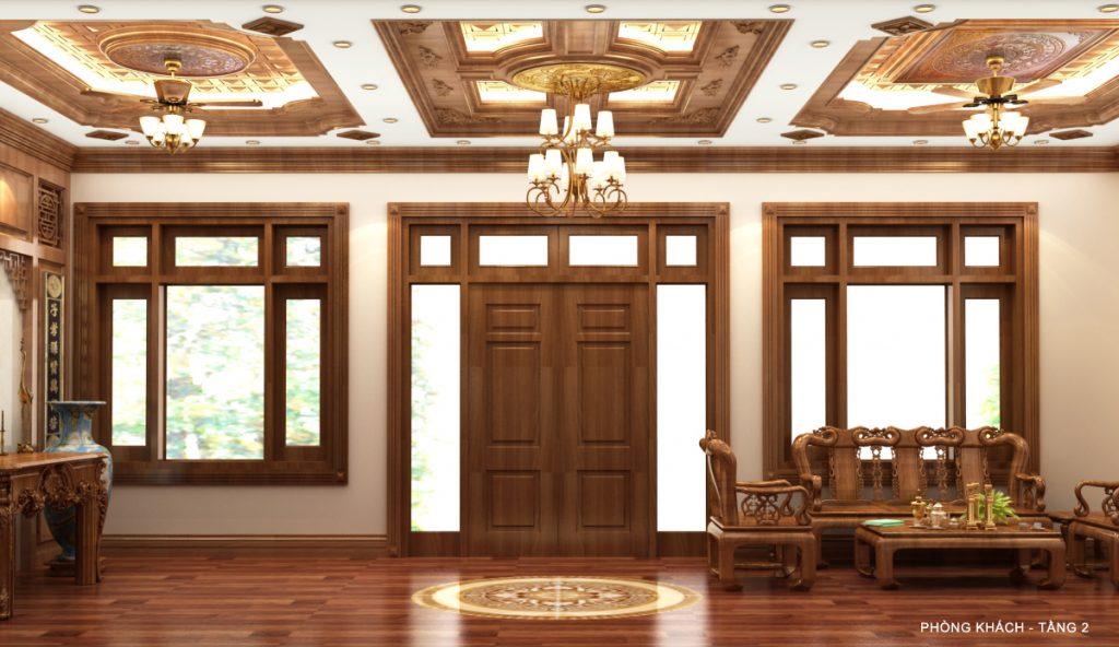 Cách trọn trần gỗ pơ mu phù hợp với nội thất