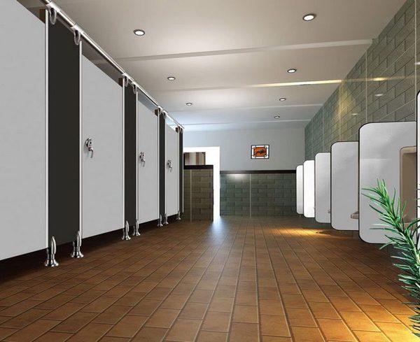 Vách ngăn vệ sinh Compact HPL cho trường học