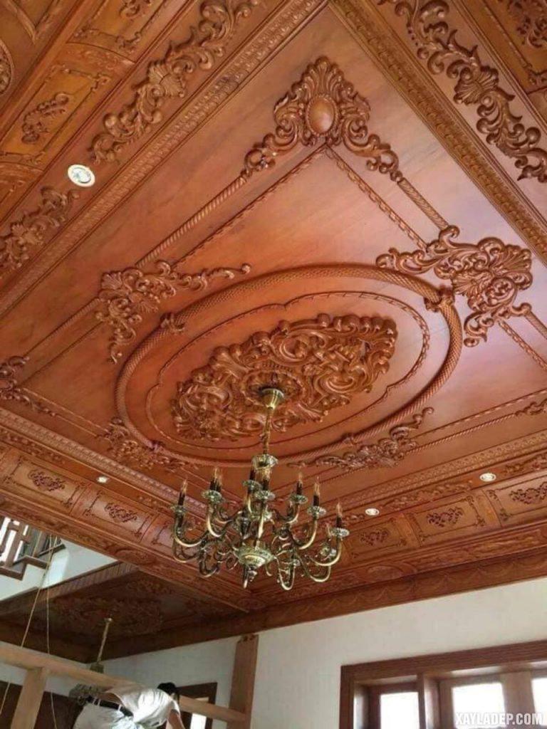 Báo giá trần nhà gỗ dổi