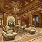 Mẫu trần gỗ phòng khách đẳng cấp