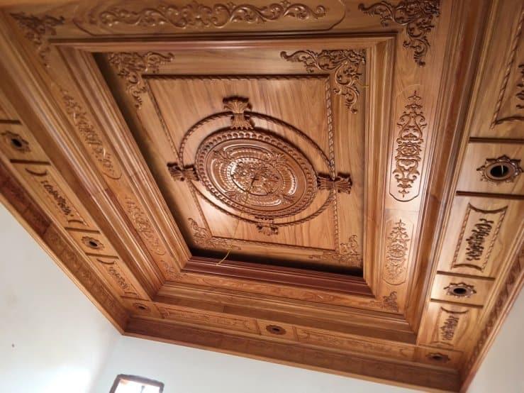 Thi công trần gỗ tân cổ điển tại Hà Nội