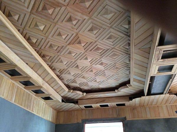 trần gỗ giật cấp