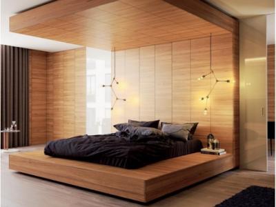 trần gỗ phòng ngủ